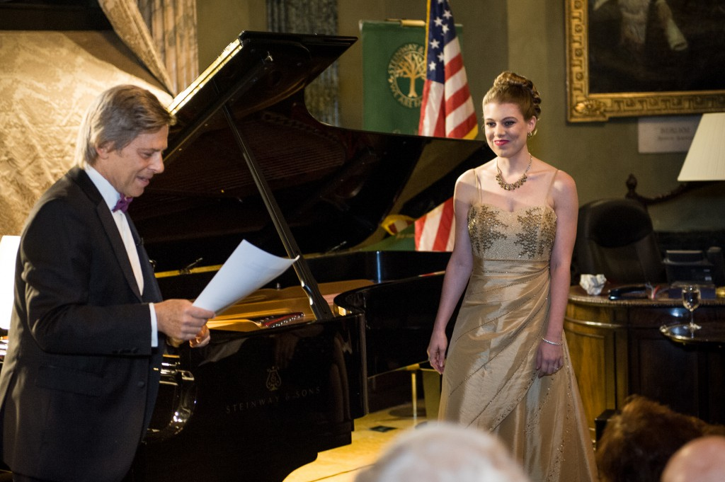 Leandra Ramm picture with Robert DeGaetano in Steinway Hall Take Nine