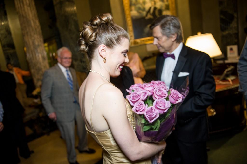 Leandra Ramm picture with Robert DeGaetano in Steinway Hall Take Three