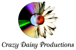 Crazy Daisy Productions Logo with black lettering on white background