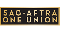 SAG-AFTRA One Union Logo with gold lettering on black background