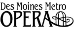 Des Moines Metro Opera Logo Black Lettering on White Background