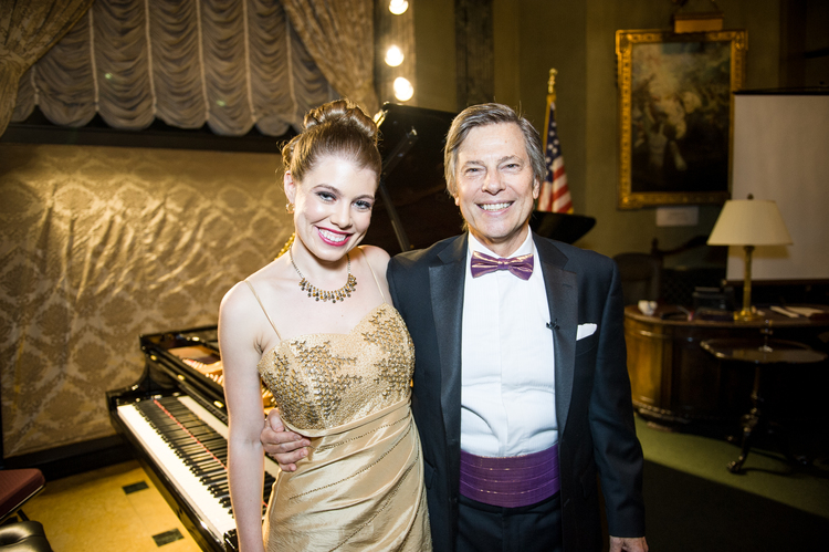 Leandra Ramm picture with Robert DeGaetano in Steinway Hall Take One