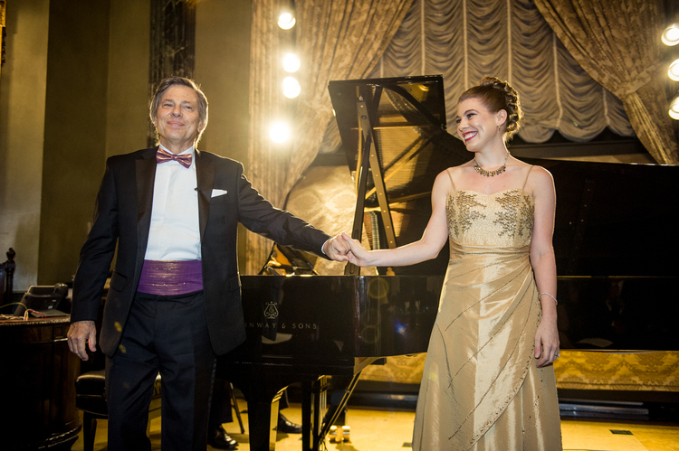 Leandra Ramm picture with Robert DeGaetano in Steinway Hall Take Two