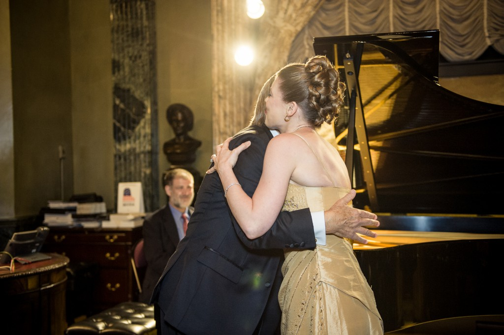 Leandra Ramm picture with Robert DeGaetano in Steinway Hall Take Seven